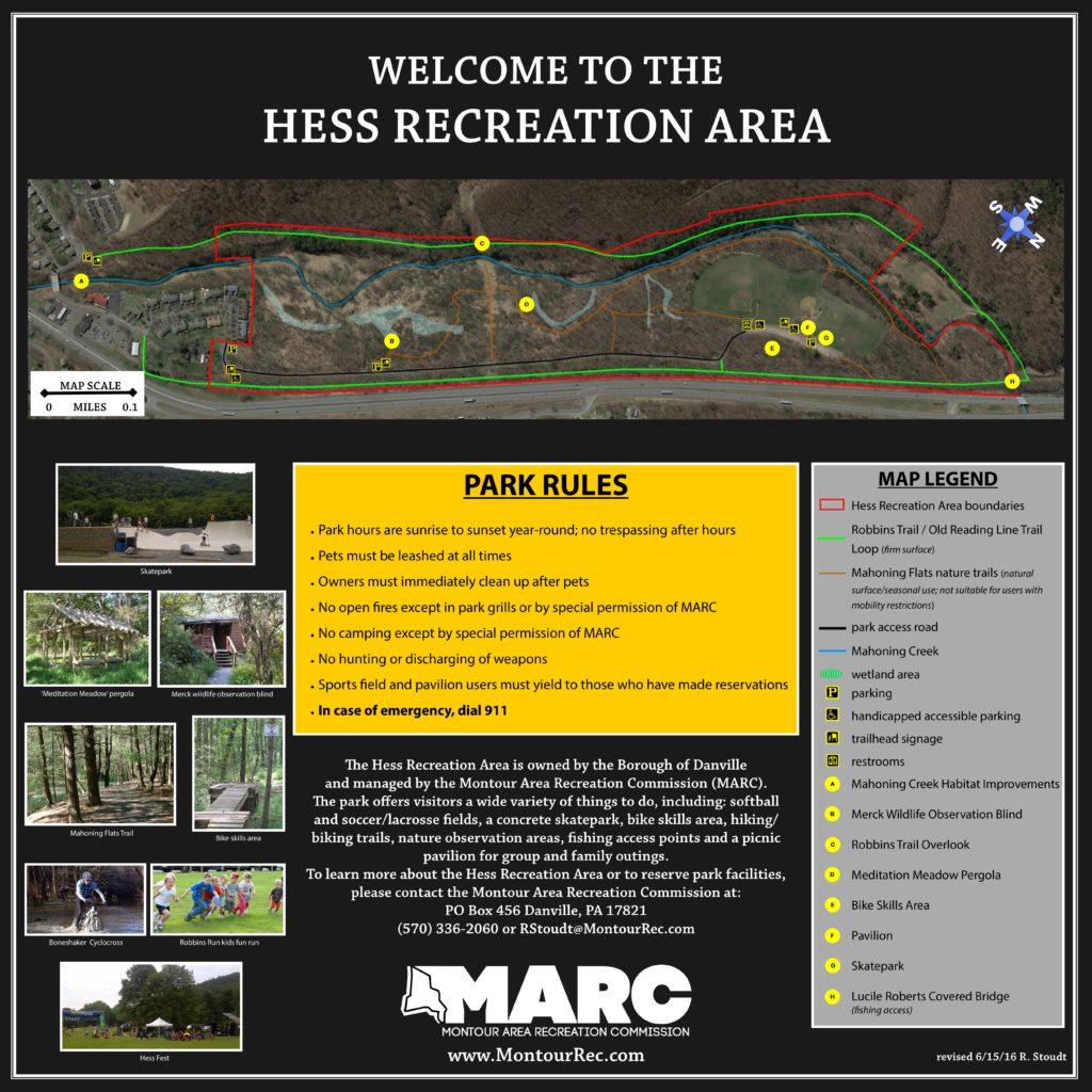 Hess Recreation Area map